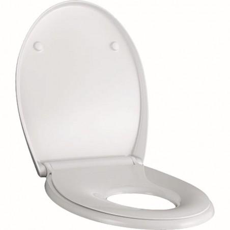 WC dangtis Geberit, Selnova, lėtai nusileidžiantis, greitai nuimamas, su atlenkiama vaikiška sėdyne