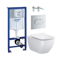 Grohe WC rėmo komplektas Rapid SL, su Opoczno Metropolitan Clean-On ir soft-close dangčiu