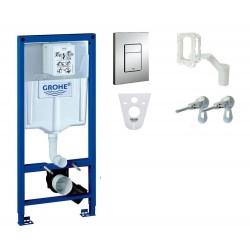 Grohe WC rėmo komplektas Rapid SL, su Cersanit Caspia Clean-On ir Slim soft-close dangčiu