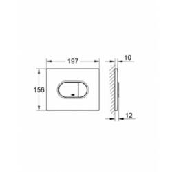 Grohe WC klavišas, Arena Cosmopolitan, chromas, horizontalus