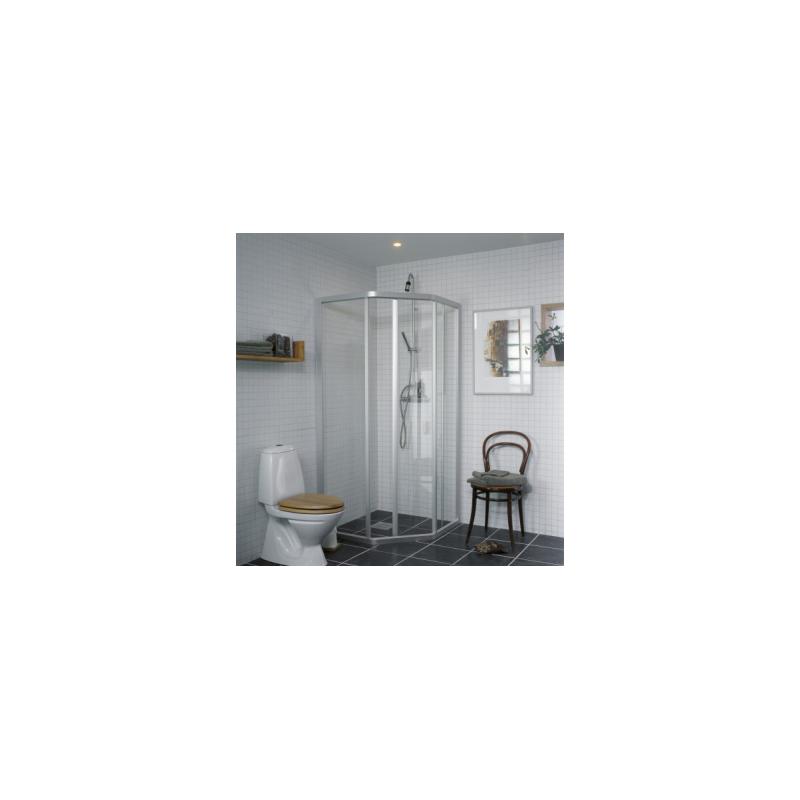 Dušo sienelė IFO SOLID SVP NK 99 profilis aliumio, stiklas skaidrus