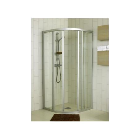 Dušo sienelė IFO SOLID SVR NK 99 profilis aliumio, stiklas baltai raštuotas