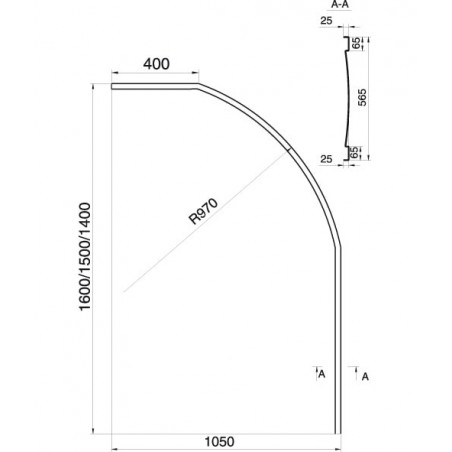 Vonios apdaila Ravak Rosa I, 150 (L/R)