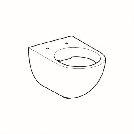 WC pakabinamas Geberit, Acanto, Rimfree