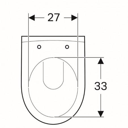 WC pakabinamas Geberit, iCon, su apvadu, trumpesnis