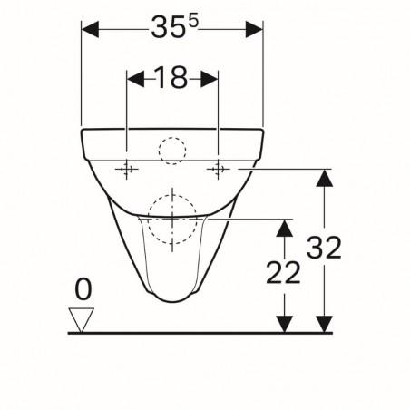 WC pakabinamas Geberit, Selnova, Rimfree