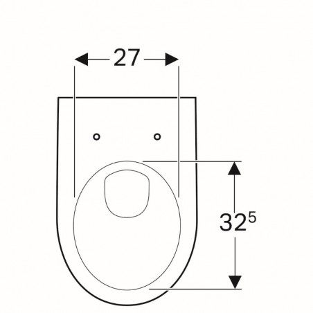 WC pakabinamas Geberit, Selnova, su apvadu