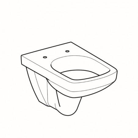 WC pakabinamas Geberit, Selnova Square, su apvadu