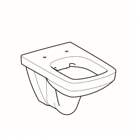 WC pakabinamas Geberit, Selnova Square, Rimfree