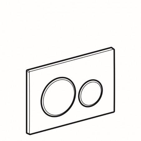 WC klavišas Geberit, Sigma 20, baltas-blizgus chromas-baltas