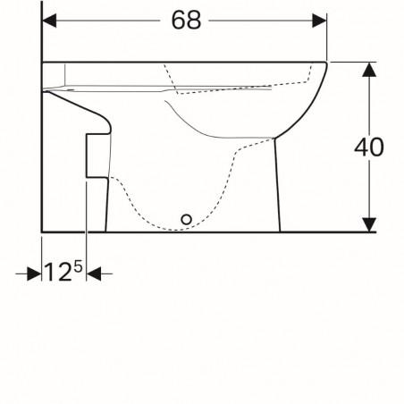 WC pastatomas puodas Geberit, Selnova, su apvadu