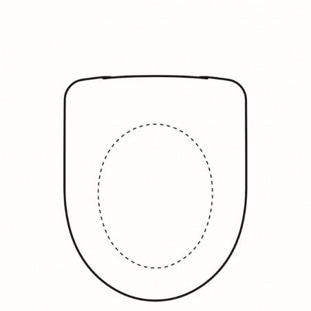 WC dangtis Geberit, Selnova, kietas, montuojamas iš apačios, plastiko laikikliai